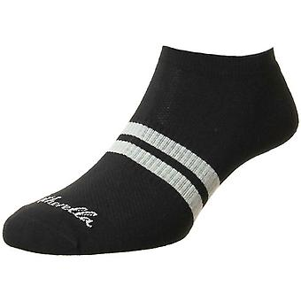 Pantherella Sprint Trainer Socks - Black