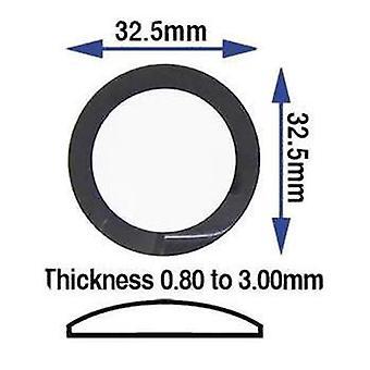 Vetro dell'orologio realizzato da w&cp per adattarsi al decsomo nodo generico vetro minerale, rotondo, bordo nero specchiato 32,50 mm (0,80 a 3,00 mm di spessore) generico c.k.