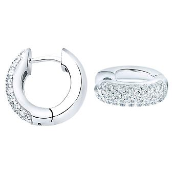 Sterling 925 Silver HOOP earrings - BLING KING 10 mm