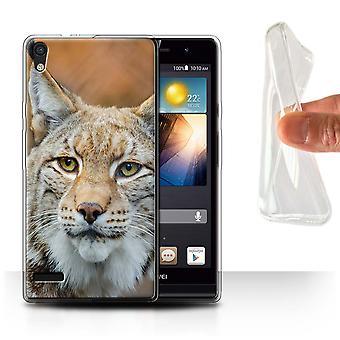 STUFF4 Gel TPU Case/Cover for Huawei Ascend P6/Lynx/Bobcat/North America Animals