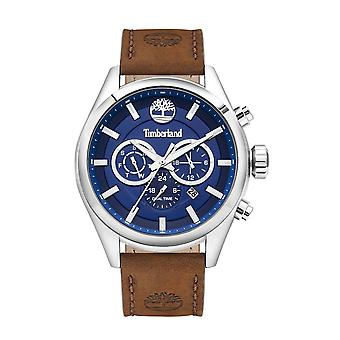 Timberland Watches Tbl.16062jys/03 Ashmont Blue & Brown Leather Men's Chronograph Watch