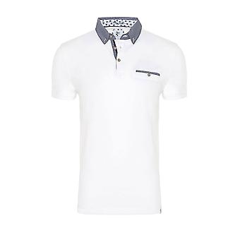 R2 Short Sleeved Pocket Polo Shirt White