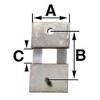Slingerklokvering veer b = 11,0 mm (a= 8,0 mm & c = 3,6 mm)