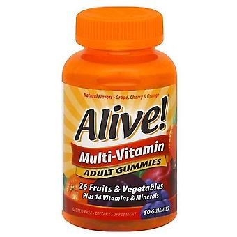 Chemin de la nature vivante! multi-vitamines adultes gummies, 50 ch.