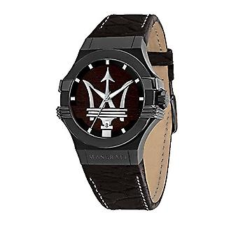 MASERATI Analog quartz men's watch with leather R8851108026