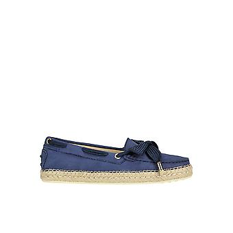 Tod's Ezgl027055 Women's Blue Suede Loafers