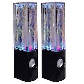 Multicolored Led Hi Fi Stereo Speakers with Auxiliary Cable
