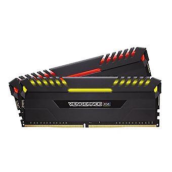 Corsair الانتقام RGB RGB مجموعة الذاكرة RGB مضيئة RGB LED متحمس 16 غيغابايت (2x8 GB)، DDR4 3200 ميغاهرتز، C16 XMP 2.0، أسود