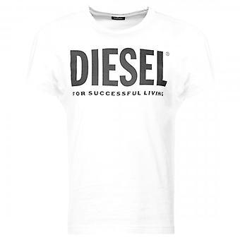 Diesel T-DIEGO-LOGO Classic Logo Printed T-Shirt White
