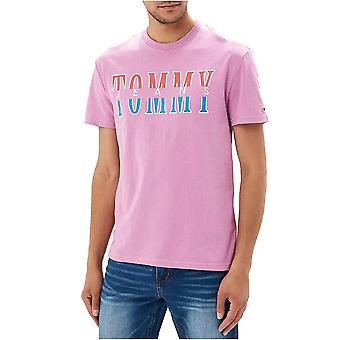Tee Shirt Cotton Logo Printed Split - Tommy Jeans
