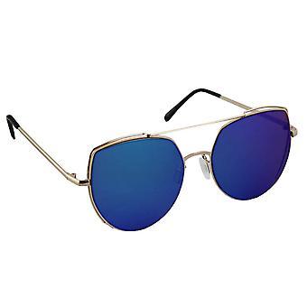 Sunglasses Ladies Cat Eye - Gold/Blauw1997_2