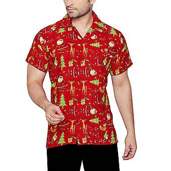 Club cubana men's regular fit classic short sleeve casual shirt ccx15