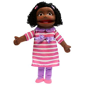 The Puppet Company Puppet Buddies Medium Girl Dark Skin Tone