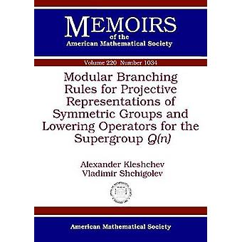 Modular Branching Rules for Projective Representations of Symmetric G
