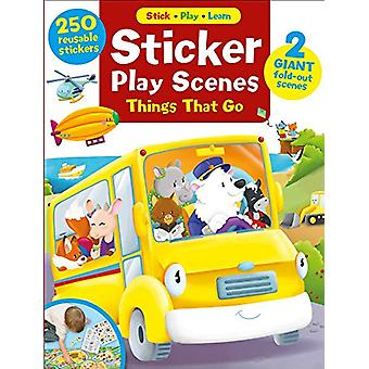 Sticker Play Scenes - Things That Go - 250 Reusable Stickers - 2 Giant