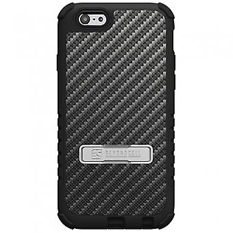 APPLE IPHONE 6 PLUS BEYOND CELL TRI SHIELD CASE - CARBON FIBER