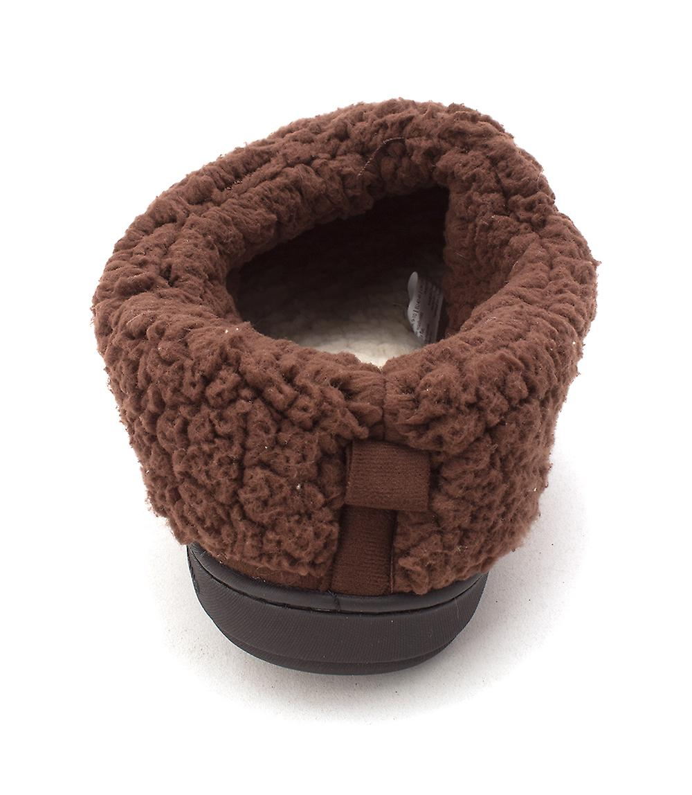 Dearfoams Womens Deerfoams Microsuede Closed Toe Slip On Slippers