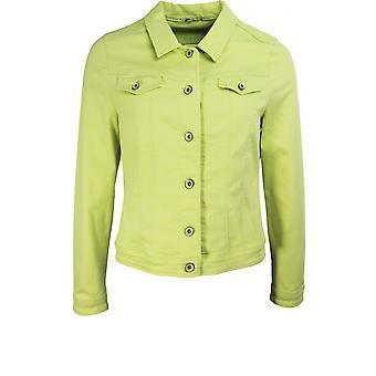 Bianca Lime Yeşil Denim Ceket