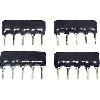 TANCAP SIP-A05-103G Cermet resistor 10 kΩ THT SIP 5 0.125 W 1 pc(s)