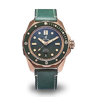 BOLDR Odyssey Serpentine Bronze Automatic Green Dial Wristwatch