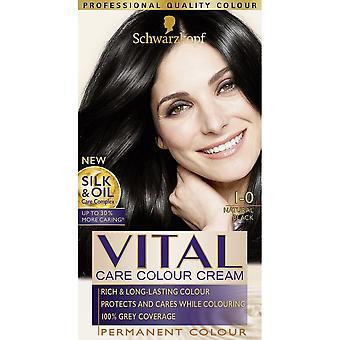 Schwarzkopf 3 X Vital Hair Colour - Natural Black 1-0