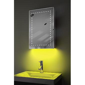 omgivelseslyd LED bad skap med sensor og barbermaskin k347aud