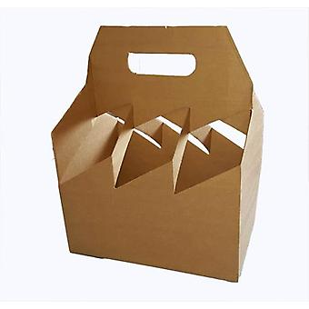 250mm x 165mm x 320mm | Brown Cardboard 6 Bottle Wine Carrier | 20 Pack