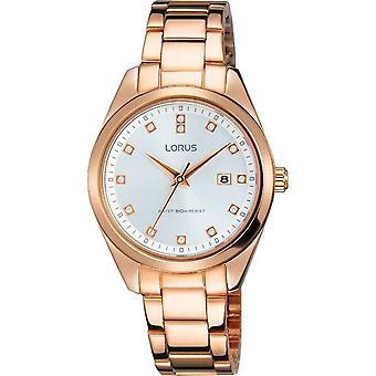 Lorus RJ240BX-9 Tono oro rosa con cristales reloj de pulsera