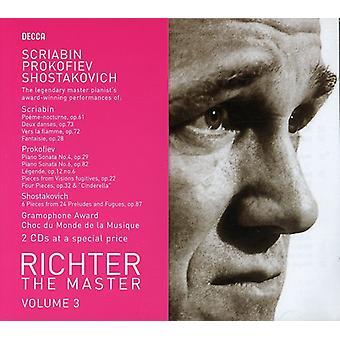 Prokofiev/Scriabin/Shostakovich - Richter the Master, Vol. 3: Scriabin, Prokofiev, Shostakovich [CD] USA import