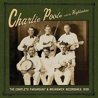 Poole, Charlie with the Highlanders - Compete Paramount & Brunswick [Vinyl] USA import
