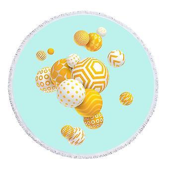 Sárga labdák strand törölköző