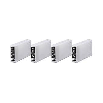 エプソン 79XL(TowerofPisa) インク ユニット用 RudyTwos 4 x ブラック WF 5690DWF、WF 5620DWF WF 5110DW、WF-5190DW Pro WF 4630DWF、WF 4640DTWF、従業員との互換性