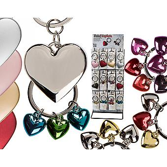 Metal Love Heart Keyring - Cracker Filler Gift