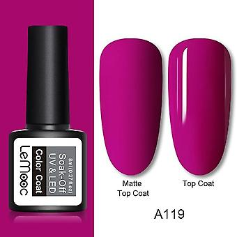 Matte Top Coat Farbe Uv Gel - Nagellack grau Serie Semi permanent Soak Off Uv Gel