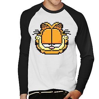 Garfield gepixeleerd Smug look mannen ' s honkbal lange mouwen T-shirt