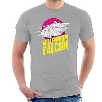 Star Wars Millennium Falcon Bold Lightspeed Men's T-Shirt