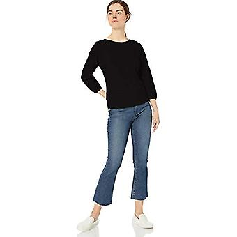 Brand - Daily Ritual Women's Lightweight Lived-In Cotton Puff-Sleeve T...