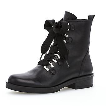 غابور هالكيرك الدانتيل حتى الأحذية راكب الدراجة النارية الجلدية في الأسود