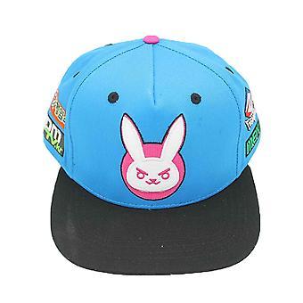 Overwatch Baseball Cap Ultimate DVA Bunny Logo novo Snapback Azul Oficial
