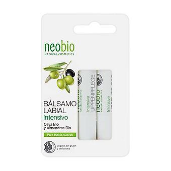 Duplo Intensive Lip Balm (Olive bio & Amandes bio) 2 unités de 4.8g