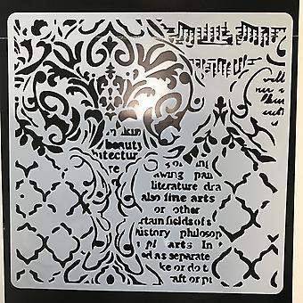 Thick Stencil 18x18cm Wallpaper Musique et écritures (KSTDQ35)