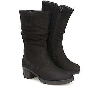 Gabor Womens Mid-Calf Leather Boot
