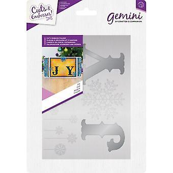 Gemini Joy Cut and Emboss Folder
