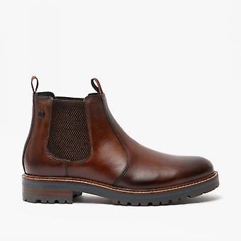 Base London Hadrian Mens Leather Chelsea Boots Brown