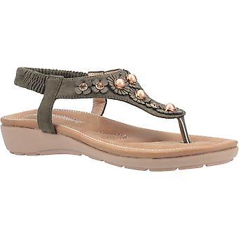 Fleet & Foster Women's Phoebe Slip On Sandal Gold 30100-51085