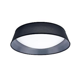 Inspireret Mantra - Nordica Plafones - Flush Loft LED Cylindrisk 60cm Sort 3000K, 3000lm, hvid akryl med sort skygge
