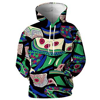 Allthemen Casual Personality 3D Printing Long-sleeved Hooded Sweater Autumn