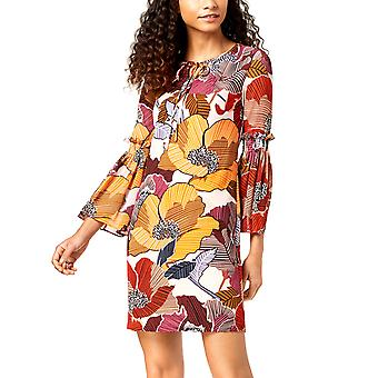 Donna Ricco | Printed Bell Sleeve Dress