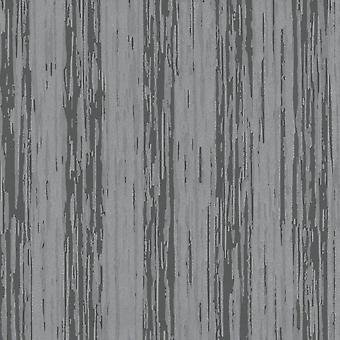 P&S International Opal Stripe Pattern Grey Silver Wallpaper Glitter Motif Embossed