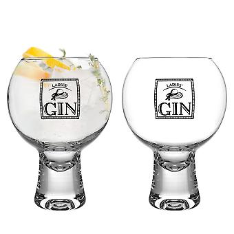 iStyle My Home 2 Piece Ikonic Ladies Gin Glasses Set - 540ml